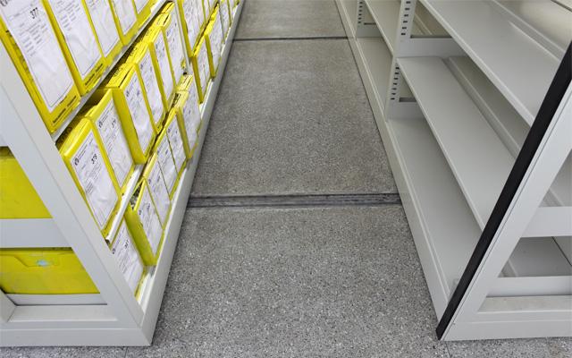 Grandes acervos Arquivos deslizantes